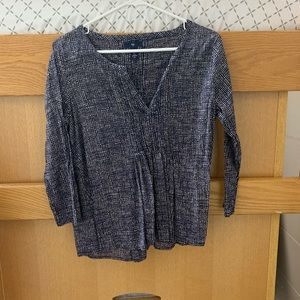Gap 3/4 sleeve blouse
